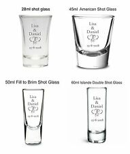 Personalised wedding engagement anniversary Shot Glass favour party drink toast