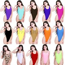 New High Cut Sexy Women Leotard Thongs One Piece Bodysuit Bikini Dance Swim Suit