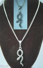 "18"" or 24"" Inch Necklace & Snake Pendant Charm Asp Aspis Reptile Souvenir Gift"