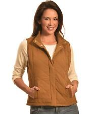 Jane Ashley Women's Faux Suede Quilted Vest - F16967 CARAMEL