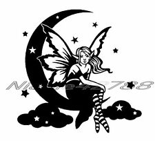 Vinyl Moon Fairy Decal/Wall/Laptop/Tablet /Car Decal/Art n Crafts/Embelishmet
