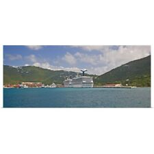 Poster Print Wall Art entitled Carnival Cruise Line ships Truimph and Glory, US