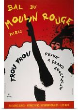Poster Print Wall Art entitled Moulin Rouge Poster, 1963