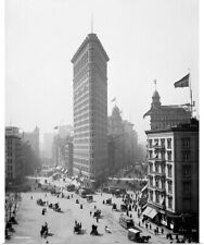 Poster Print Wall Art entitled The Flatiron Building in New York City, 1905