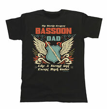 Mens T-Shirt Worlds Greatest BASSOON Dad Except Much Cooler Music Fathers Day
