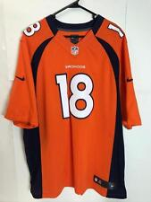 SEWN Peyton Manning #18 Broncos Mens Nike Orange On Field Jersey Size XXL