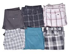Hurley Men's Casual Stripe Plaid Shorts Choose Style Color & Size