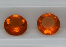 Natural Mexican Fire Opal - 5mm Round Cut Calibrated Size Orange Color Gemstone