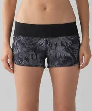 Lululemon Speed Short KSBM/BLK Kindred Spirit Black NWT Yoga Run Size 6 8 10