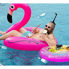Kids Adult Inflatable Flamingo Swim Rings Swimming Pool Floats Summer Beach Fun