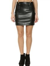 HOT TRENDY BLACK  MINI PARTY LEATHER SKIRT REAL LEATHER WOMEN LEATHER SKIRT
