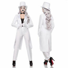 Pierrot Harlequin Outfit Pantomime Theatre Clown Costume Mime Set S-XXL