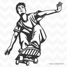 Skateboard stunt action vinyl wall art sticker bedroom playroom decal removable