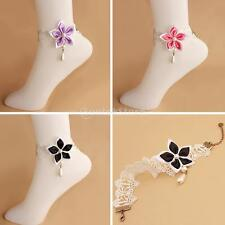 New WhiteLace Chain Anklet Ankle Bracelet Barefoot Sandal Beach Foot Jewelry