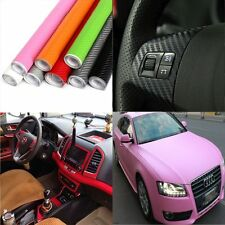 50*127cm 3D Carbon Fiber Vinyl Car Wrap Sheet Roll Film Sticker Decal Multicolor