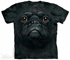 Black Pug Face T-Shirt from The Mountain - Adult S - 5X