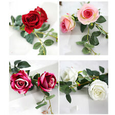New 1x Artificial Rose Flowers Silk Bouquet Bridal Home Wedding Vase Decor DIY