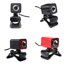 360 Degrees Rotatable 12MP USB Webcam Clip-on Web Camera w/ Mic for Computer