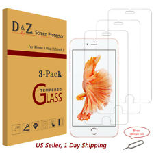 3x Premium Real Tempered Glass Screen Protector Film for Apple iPhone 6/7 Plus