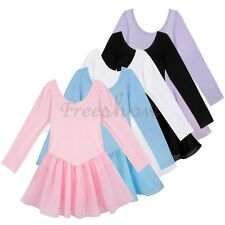 Kids Girl Gymnastic Ballet Dance Dress Leotard Unitard Toddler Dancewear Clothes