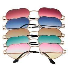 Full Wrap Heart Rim Frame Mirrored Sunglasses Glasses Gradient Lens Eyewear