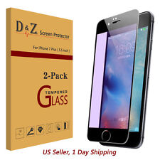 2x Anti-blue Ray HD Tempered Glass Screen Full Cover Protector for iPhone 7 Plus