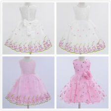 Summer Girl Dress Lace Flower Formal Princess Pageant Wedding Party Prom Gown