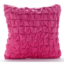 Metallic Knotted Pink Faux Leather 50x50 cm Cushion Covers - Pink Panther