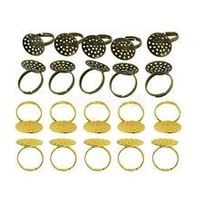 10Pcs Adjustable Ring Blanks 20mm Pad Ring Components DIY Craft Jewellery Making