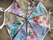 BUNTING Luxury Flag Pennant Pretty Balloons Flowers Pastels Girl's room or party