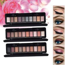 10 Colors Shimmer Matte Eyeshadow Palette with Eye Shadow Makeup Applicator