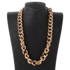 """18"""" 23"""" 37"""" MENS WOMENS Gold Hiphop Punk Chain Necklace1.9mm Curb Cuban Link Hot"""