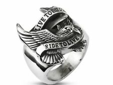 ring steel 10685.2 oz ring eagle Biker live to Ride Ride to Live Biker's ring