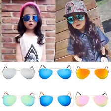 Retro Fashion Children Kids Boy Girls Students Aviator Sunglasses Eyewear Shades