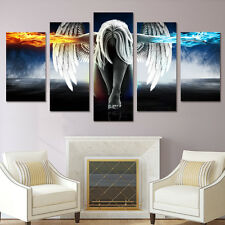 Framed Angels and Demons Picture Abstract Canvas Painting Wall Art Home Decor
