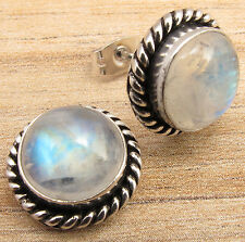 925 Sterling Silver Plated Birthday Present HANDMADE STUD Earrings Made In India