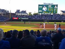 CHICAGO CUBS V BRAVES 2 TICKETS 9/1 SEC 129 ROW 1 ACTUAL 1ST ROW WRIGLEY FIELD