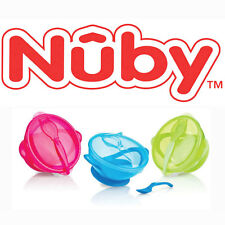 Nuby Easy Go Suction Bowl + Spoon Baby Infant Toddler 2 pieces Feeding Set NEW