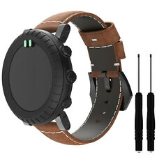 Fashion Genuine Leather Watch Strap Wrist Band For Suunto Core All Brown Watch