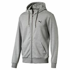 Puma Mens Style Sports Running Full Zip Hoodie Hooded Sweat Jacket Top Grey