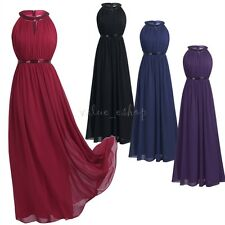 Women Formal Long Chiffon Evening Party Ball Prom Gown Wedding Bridesmaid Dress