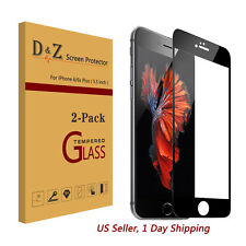LOT 2Pcs Full Coverage Tempered Glass Film Screen Protector for iPhone 6/6S Plus