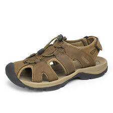 Outdoor Sport Sandals Hiking Tail Mens Round Toe Leather Summer Shoes