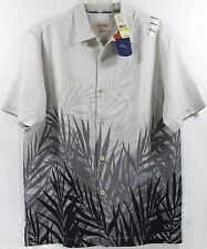 NWT Tommy Bahama Fronds In The Mist-Weimaraner 100% Silk Camp Shirt $138