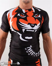 2017 MMA Muay Thai Fight Training T-Shirt Tiger Pattern Thai Boxing Comfortable