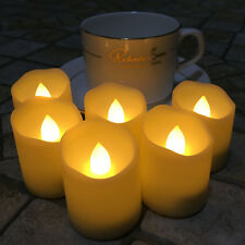 6 9 12 Pcs Flameless Flickering LED Votive Candle Timer with Remote