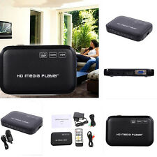 Full HD 1080P Media Player MKV HDD HDMI Center USB  SD AV TV AVI RMVB Black