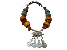 Handcrafted Moroccan african imitation amber artisan Berber necklace