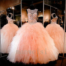 New Quinceanera Dress Party Evening Ball Formal Prom Pageant Wedding Gown Custom