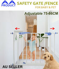 76CM High Adjustable Baby Child Pet Safety Security Gate Stair Barrier&Extension